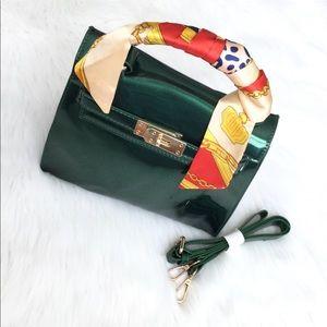 Handbags - Patent leather satchel Cross Body Bag